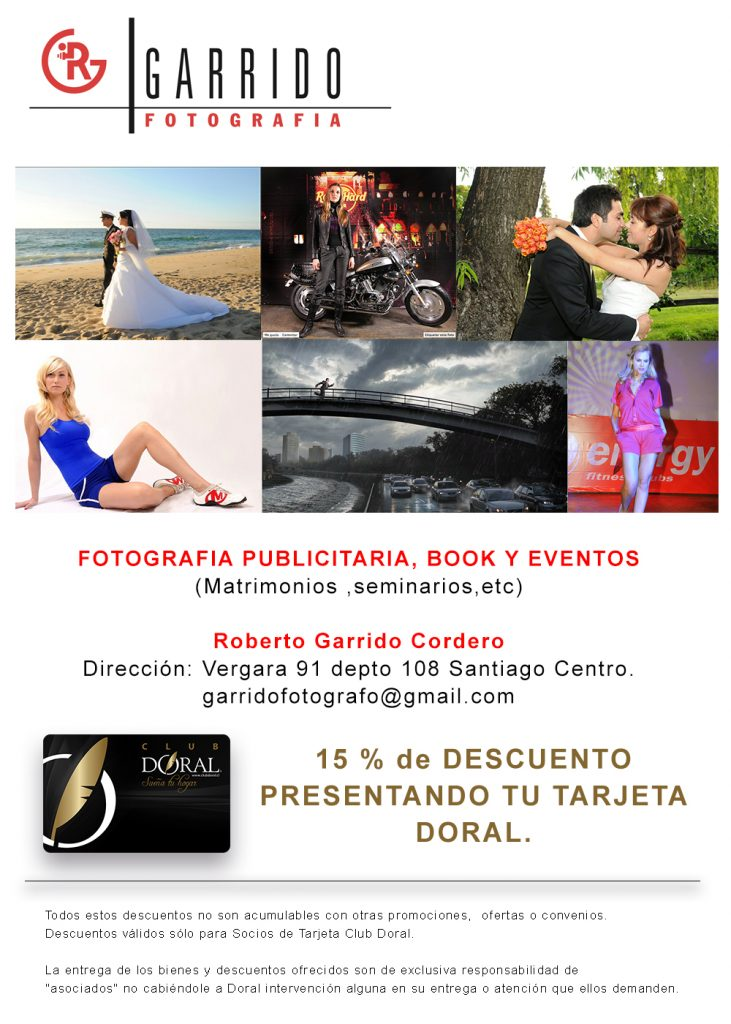 Necesitas un book de presentación, andas en busca de un excelente fotografo para tu boda, encuentralo aquí en DORAL, y obtendrás 15% de descuento presentando tu DORAL CARD.